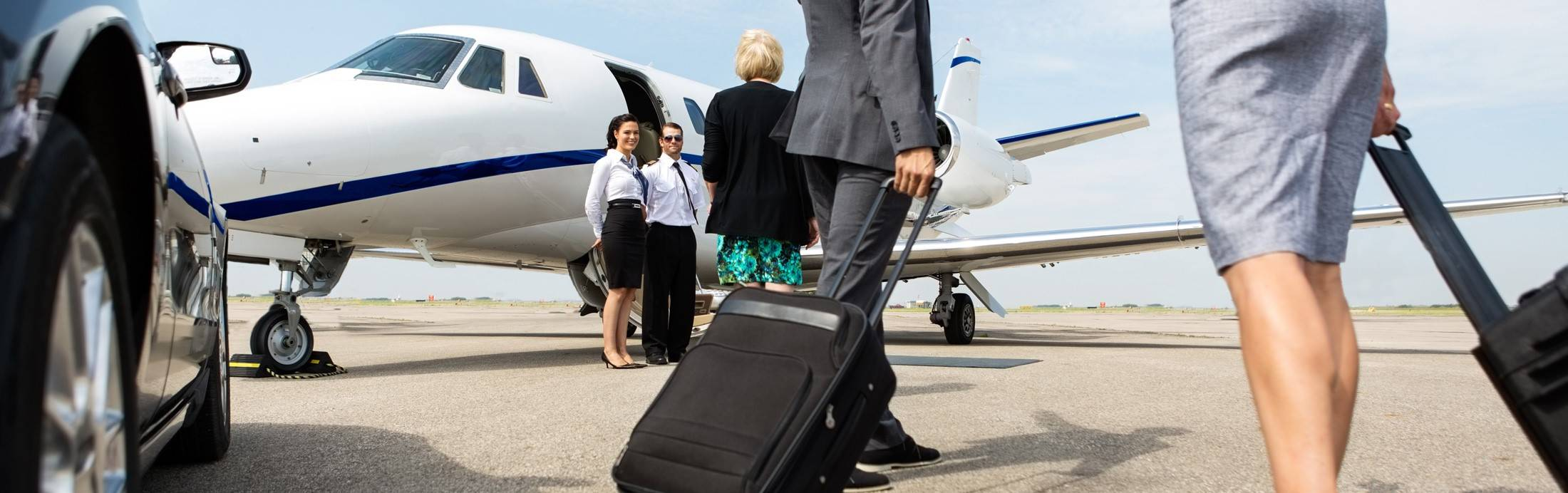 Greeting Passengers before Flight